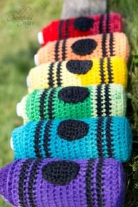 Crayon Water Bottle Cozy PDF Crochet Pattern by Crystalized Designs