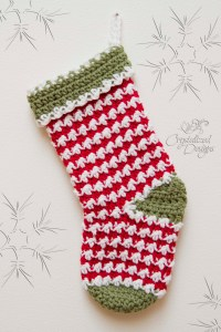 Comet Stocking Crochet Pattern by Crystalized Designs