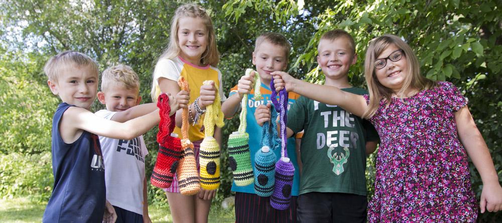 Crayon Water Bottle Cozy Crochet Pattern