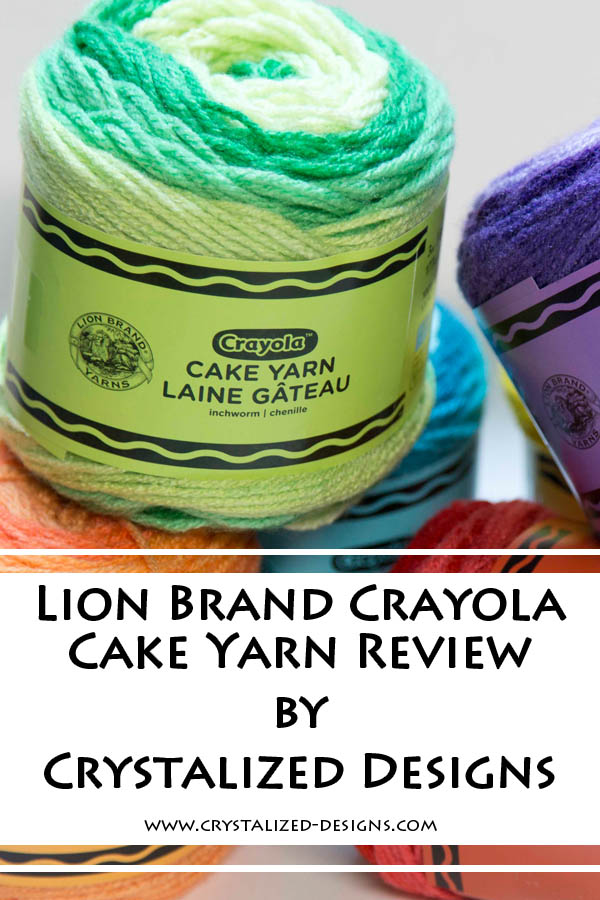 Lion Brand Crayola Cakes Yarn Review by Crystalized Designs