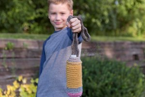 Pencil Water Bottle Cozy Crochet Pattern