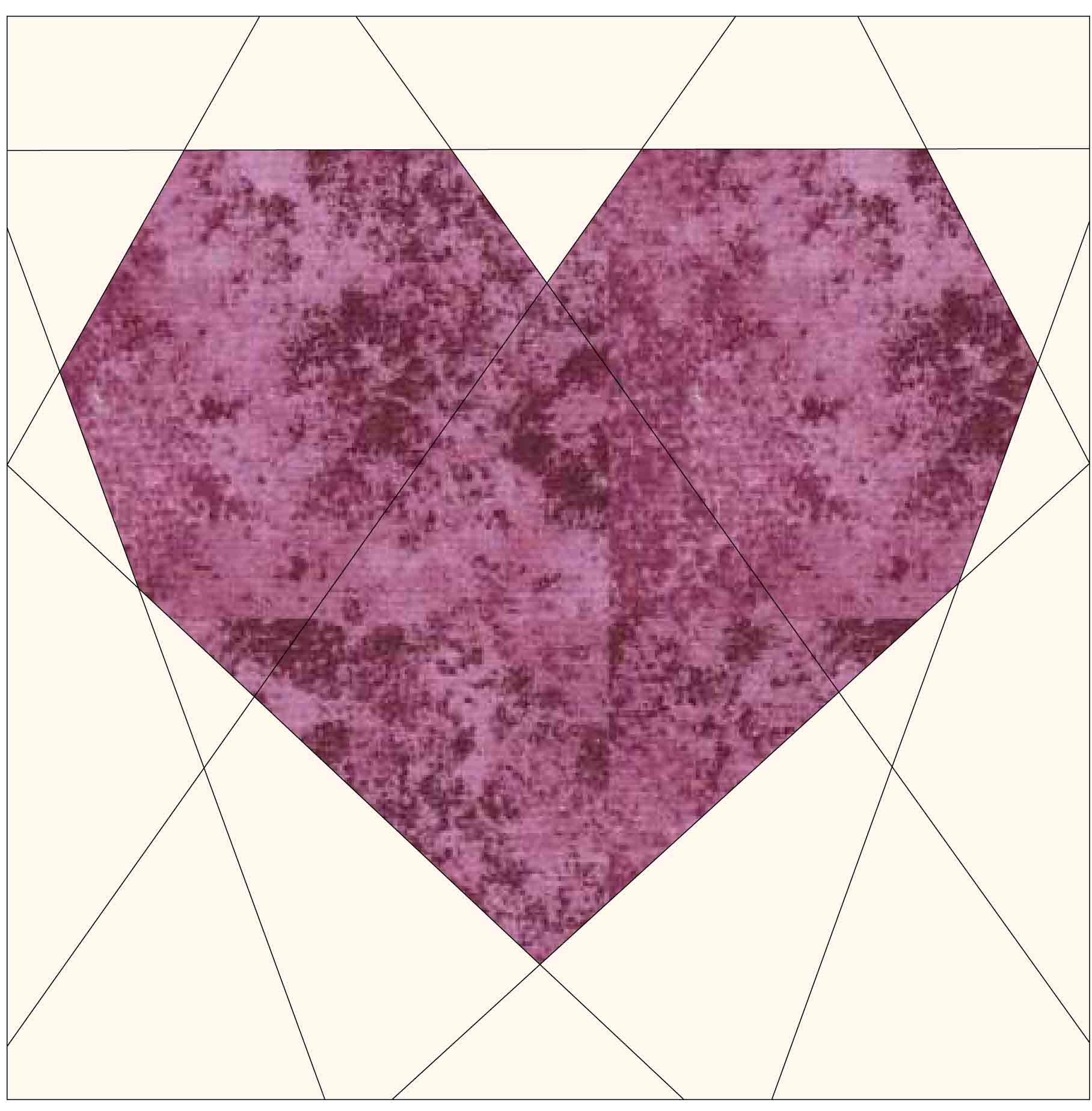 Small Heart Paper Piecing Sewing Block Graphic