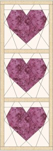 Small Heart Paper Piecing Sewing Wall Hanging