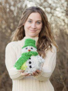 fur free snowman crochet pattern