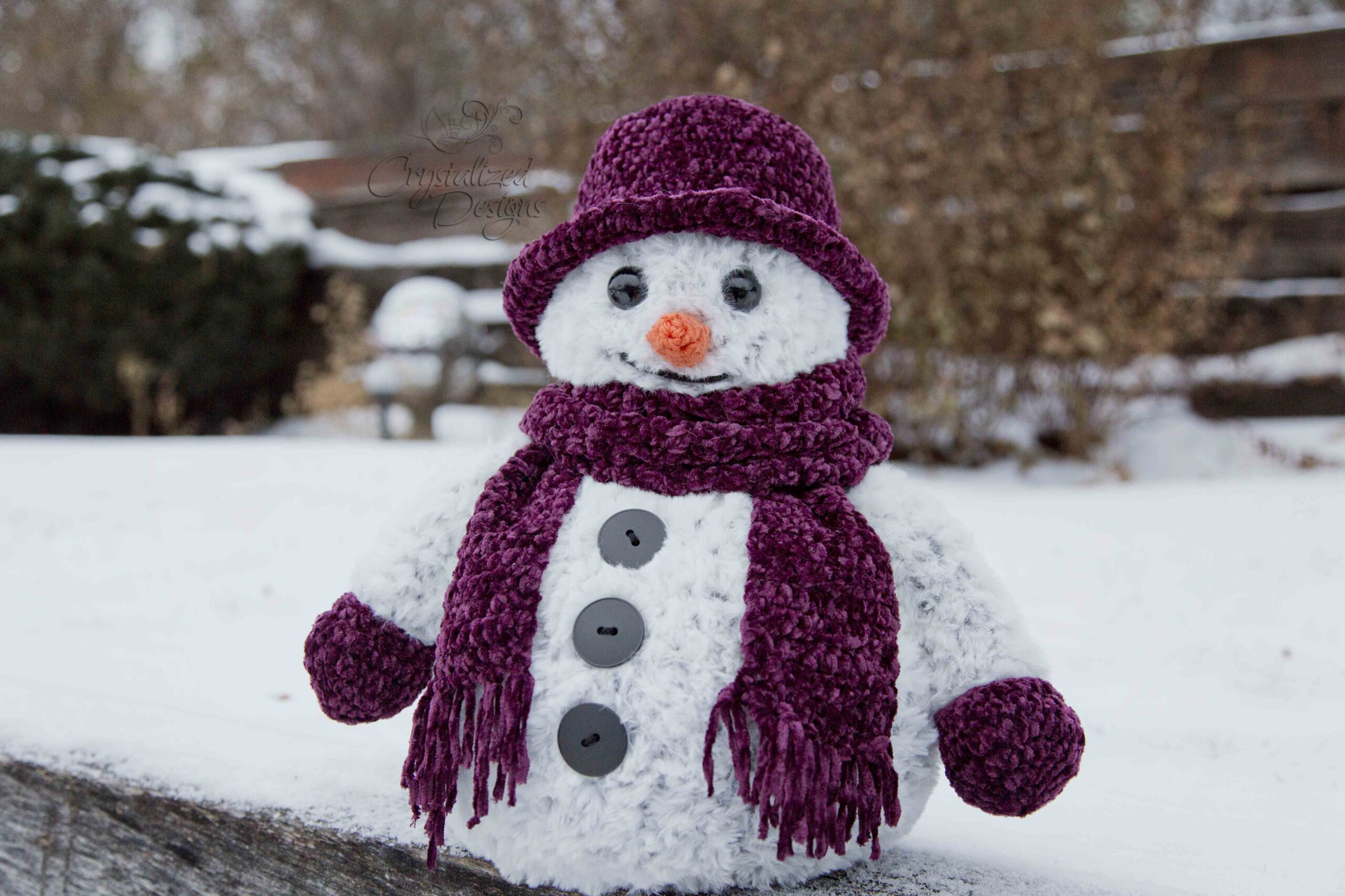 Crispen the Snowman Free Crochet Pattern by Crystalized Designs