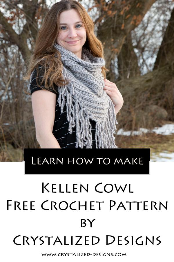 Kellen Cowl Free Crochet Pattern by Crystalized Designs