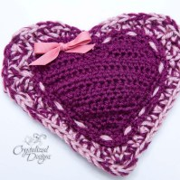 Heart Pouch Crochet Pattern