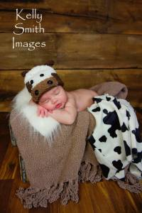 cow newborn beanie crochet pattern