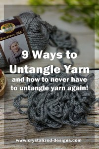 untangle yarn while crocheting