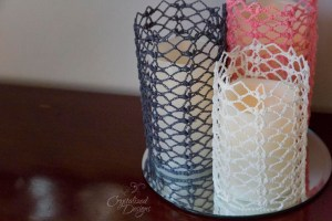 crocheted candle sleeve free crochet pattern