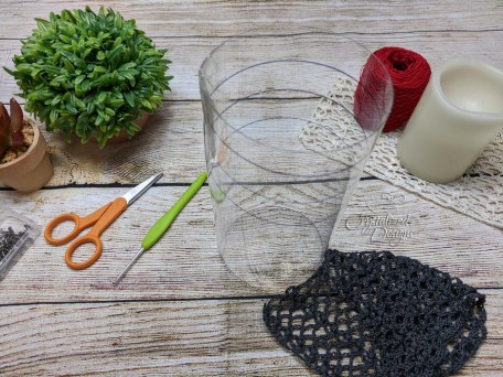 cylinder form for crocheted candle sleeve