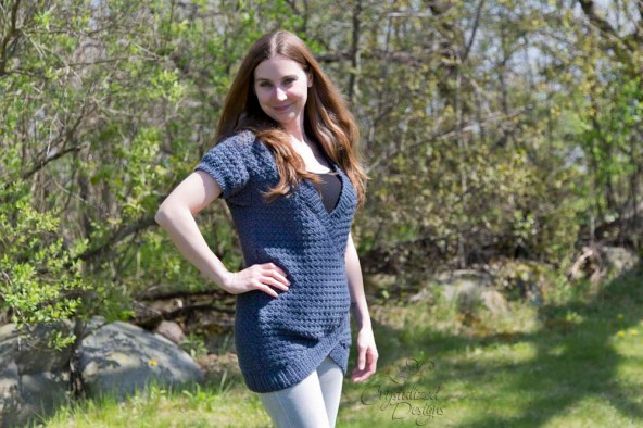 Cerulean Sweater Crochet Pattern by Crystalized Designs 1