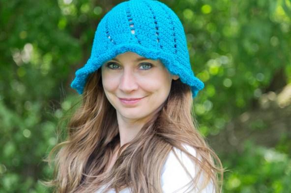 Fritillaria Free Sun Hat Crochet Pattern by Crystalized Designs