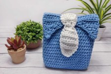 Tie Gift Bag Crochet Pattern Site