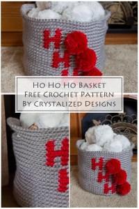 Ho Ho Ho Basket Free Crochet Pattern by Crystalized Designs 10
