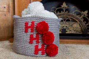 Ho Ho Ho Basket Free Crochet Pattern