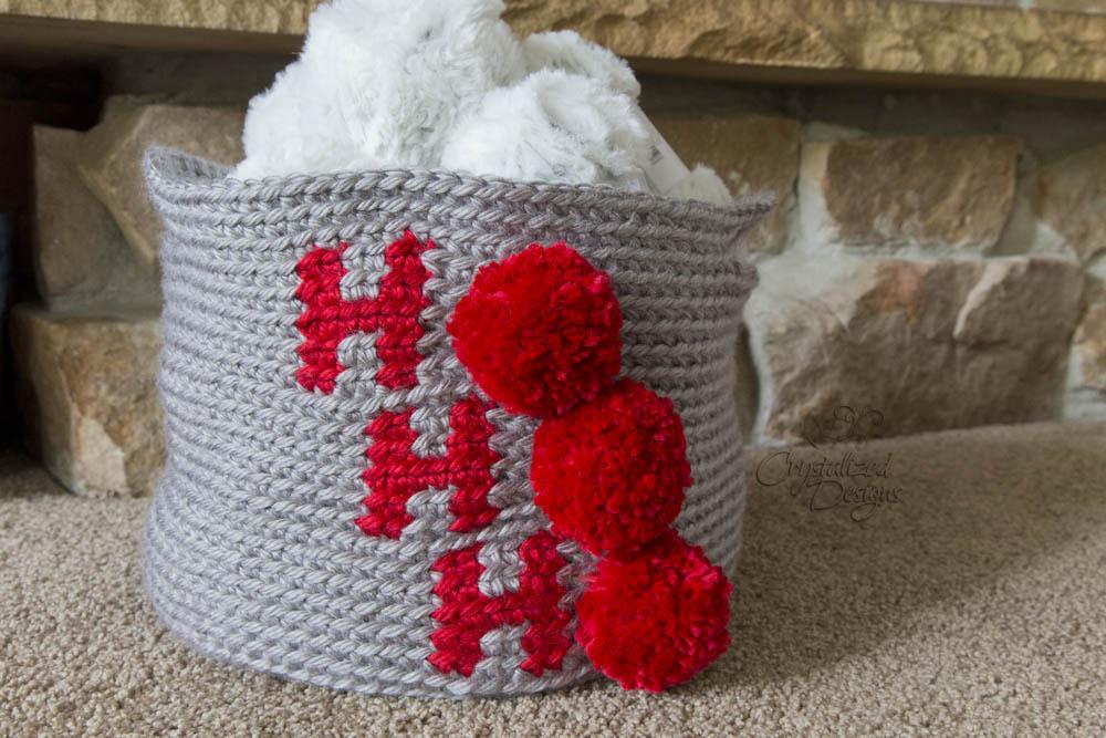 Holiday Basket Crochet Pattern