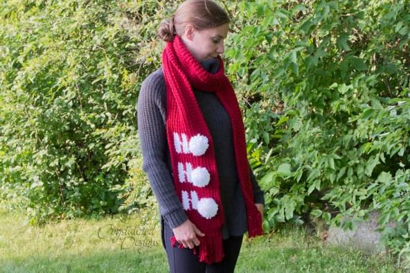 Ho Ho Ho Scarf Crochet Pattern by Crystalized Designs