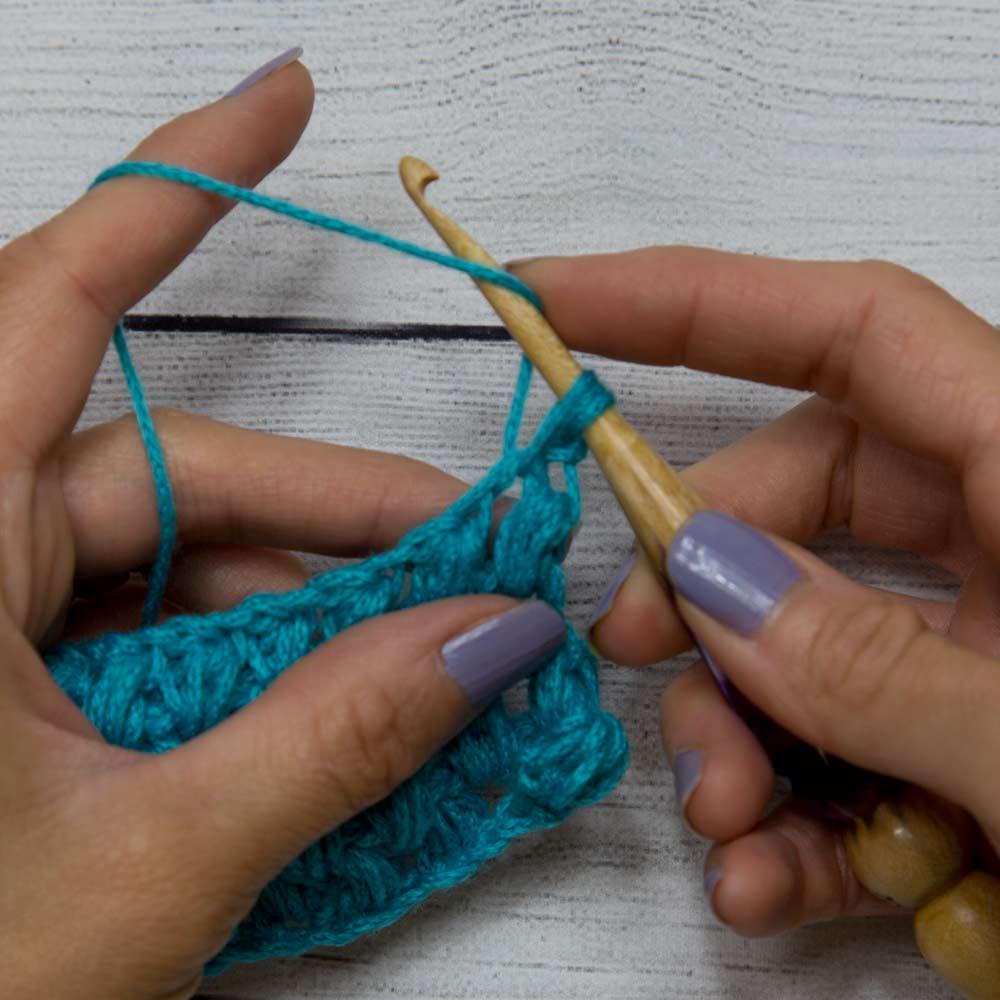 Puff stitch step 3