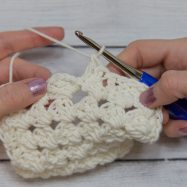step-7 granny diamond coaster crochet pattern