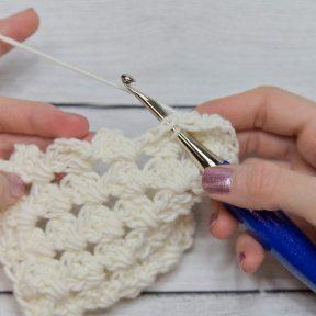 step-8 granny diamond coaster crochet pattern