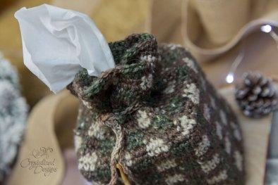 Gingham Rustic Tissue Cover Crochet Pattern