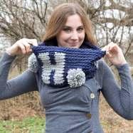 Ho Ho Ho Holiday Cowl Crochet Pattern