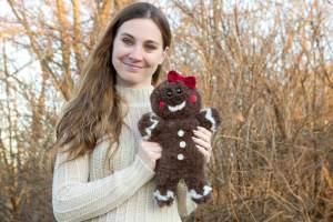 Jaden the Gingerbread Amigurumi Crochet Pattern