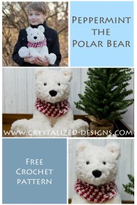 Peppermint the Polar Bear Free Crochet Pattern by Crystalized Designs