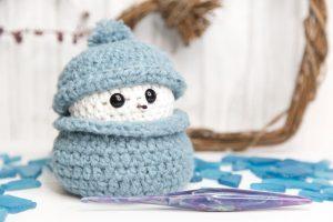 Scrap Busting Snowman Crochet Pattern