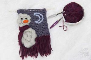 Winter Snowman Wall Hanging Crochet Pattern