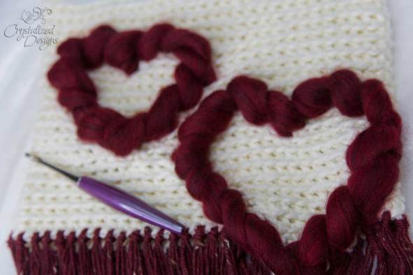 3D Heart Wall hanging Crochet Pattern
