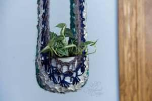 Plant Hammock Free Crochet Pattern by Crystalized Designs