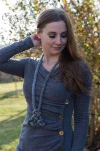 I cord necklace Trinity Knot crochet tutorial