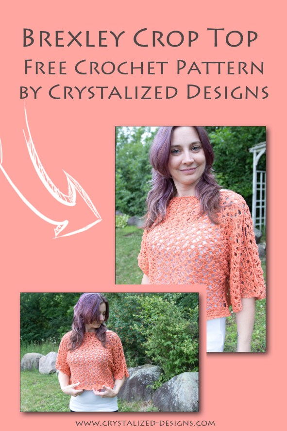Brexley Crop Top Free Crochet Pattern by Crystalized Designs