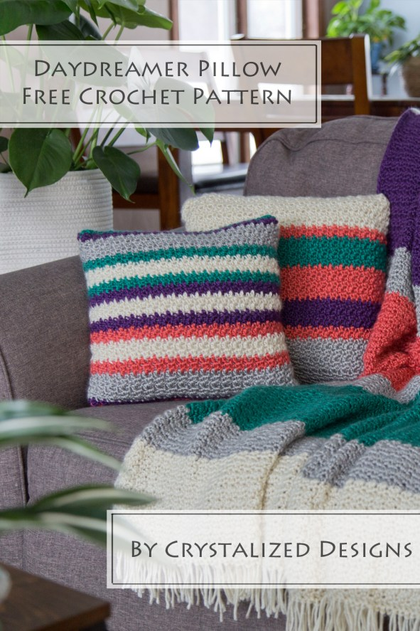 Daydreamer Pillow Free Crochet Pattern by Crystalized Designs