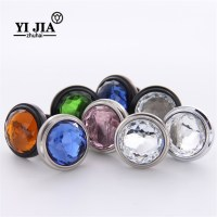 Colored Glass Cabinet Knobs and Pulls   YiJia Crystal