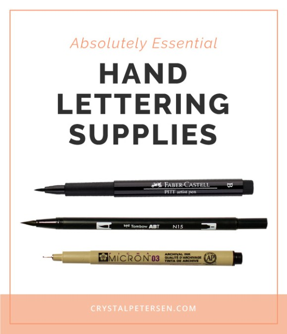 Essential Hand Lettering Supplies