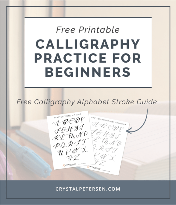Free Calligraphy Alphabet Printable