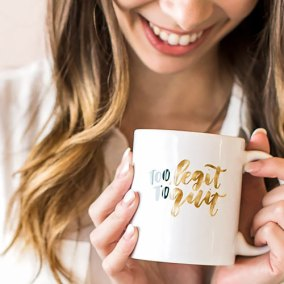 To Legit Hand Lettering Calligraphy Mug