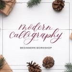 December's Modern Calligraphy Workshop at Atlantic Station