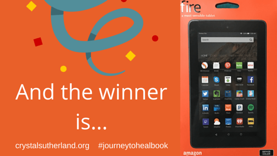 Journey to Heal Book Kindle Winner Announcement