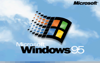 [Windows 95 splash screen]