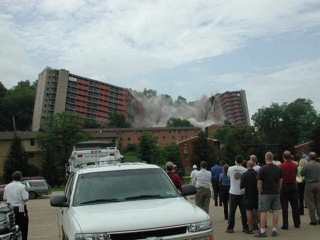 Garfield Heights High Rise Implosion