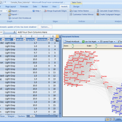 Network Diagram Excel 08 F250 Trailer Wiring Graph Visualization Nodexl Is An 2007 Template For Viewing And Analyzing Graphs Along With A Set Of Net Framework 3 5 Class Libraries That Can Be Used To Add
