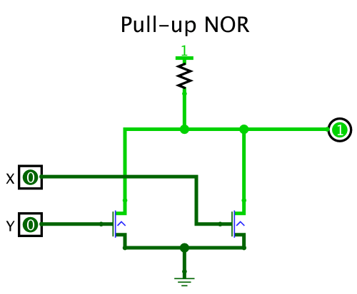 small resolution of pull up and npn for nor