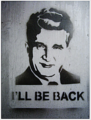 Stencil of Ceausescu