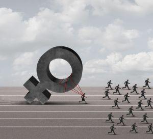 female discrimination illustration