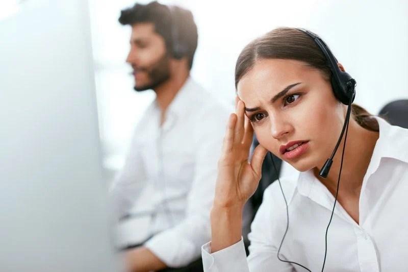 Unhappy customer service agent