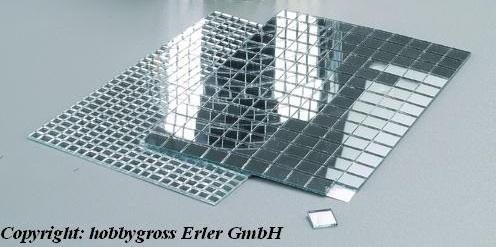 Mosaix Deko Spiegel selbstklebend quadratisch 5x5  10x10 mm